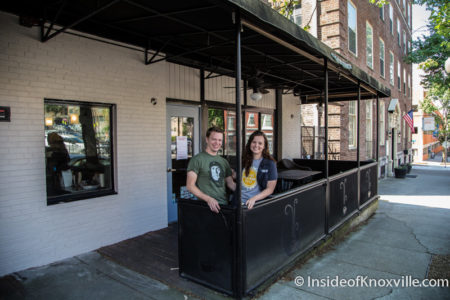 Jesse Newmister (chef) with Fiance Margaret Stolfi, Kaizen, 416 Clinch Ave., Knoxville, May 2016