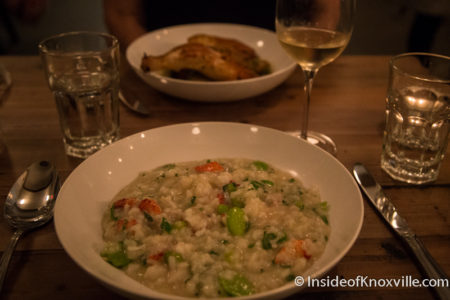 Lobster Risotto, Emilia, 16 Market Square, Knoxville, May 2016