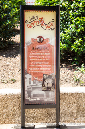 New Marker for the Cradle of Country Music Tour, Wall Ave., Knoxville, May 2016