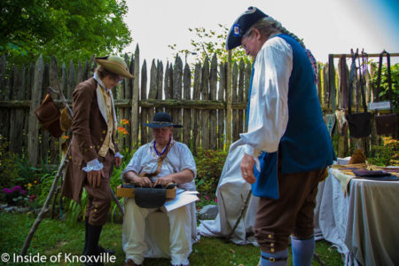 State of Franklin Celebration, James White Fort, Knoxville, May 2016