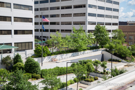 TVA Plaza from Above, Knoxville, May 2016