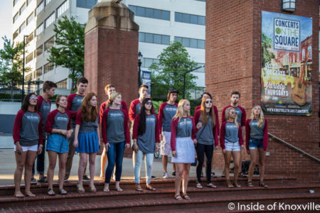 Bearden High Acapella Choir, Market Square Stage, Knoxville, May 2016