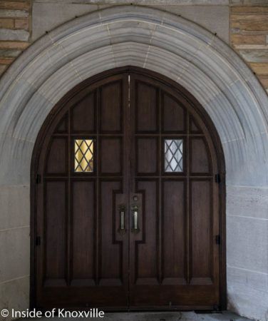 Doorway at Church Street United Methodist Church, Knoxville, May 2016