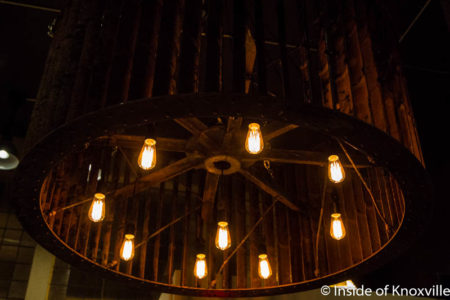 Industrial Chandelier, Maple Hall, 414 S. Gay, Knoxville, June 2016