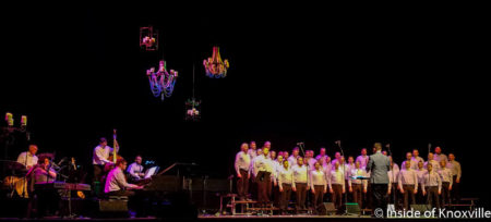 "Knoxville Gay Men's Chorus performs ""Chandelier,"" Civic Auditorium, June 2016"