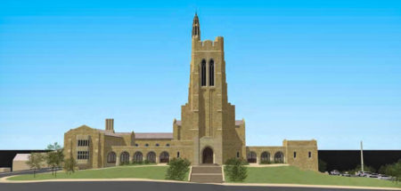 Rendering of Proposed Elevation from Henley Street, Church Street United Methodist Church, Knoxville, May 2016