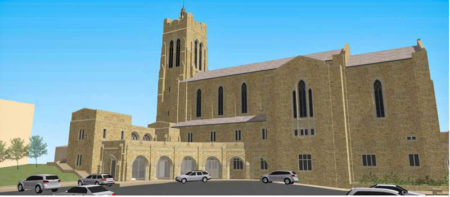 Rendering of Rear of Proposed Addition, Church Street United Methodist Church, Knoxville, May 2016