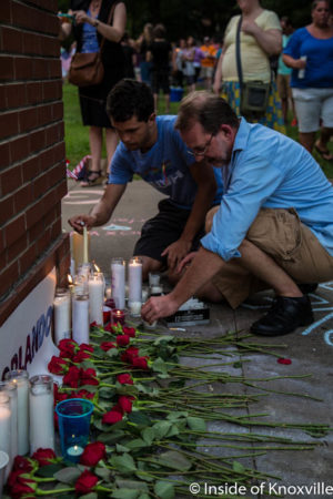 Vigil for Orlando Shooting Victims, Knoxville, June 2016