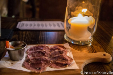 Wild Pig-Venison-Huckleberry Fettine, Lonesome Dove, 100 N. Central St., Knoxville, June 2016