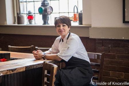 Chef Carol Scott, Blue Slip Bistro, 300 W. Depot, Knoxville, July 2016