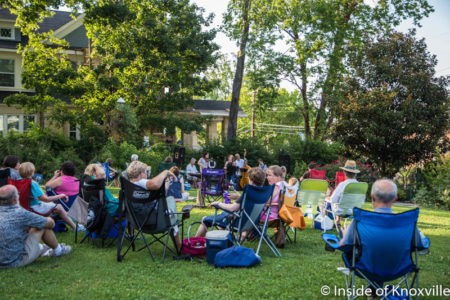 Hot Jazz Picnic at James Agee Park, Knoxville, July 2016
