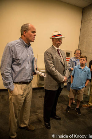Jed Dance and Arthur Seymour, Jr., City Council Meeting, Knoxville, July 2016