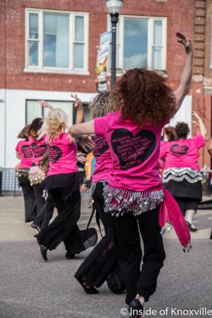 Sandsation Dancers, Flash Mob on Market Square, Knoxville, May 2016