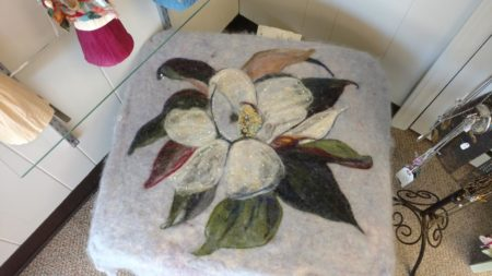 Wet Felted Stool by Cynthia Tipton, Broadway Studios and Gallery, Knoxville, July 2016 - 2
