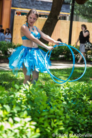 Girl Hooping in Tutu, Market Square, Knoxville, July 2016