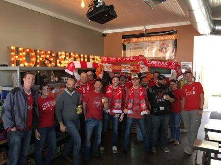 LFCKnox Group Picture on Match Day at Hops and Hollers