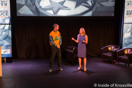 Brandon Bruce and Cortney Piper, Startup Day, Bijou, Knoxville, September 2016