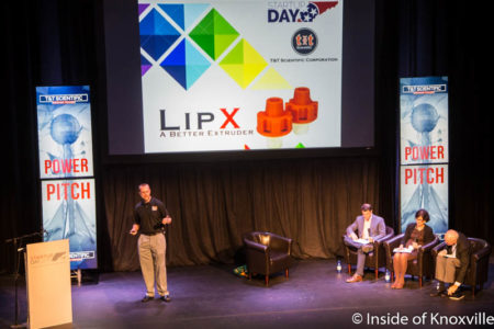 Graham Taylor with T&T Scientific, Startup Day, Bijou, Knoxville, September 2016