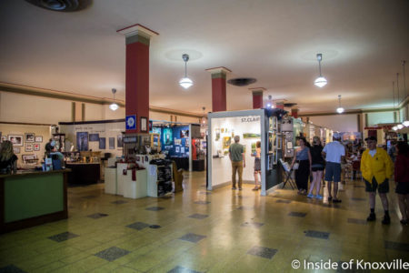 Soda Fountain and Art Gallery, Inside the Woolworth's Building, Asheville, September 2016