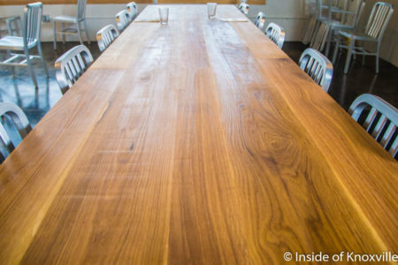 Tabletops by Fork Design, A Dopo Pizzeria, 516 Williams St., Knoxville, September 2016