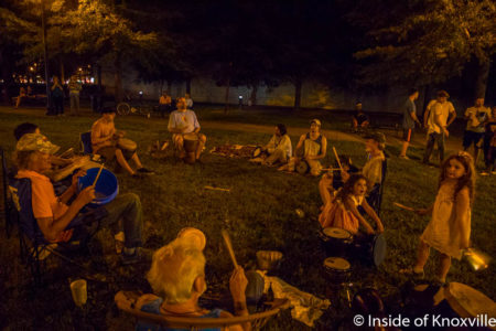 Drum Circle, Krtuch Park, Knoxville, July 2016