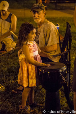 Girl at a Drum Circle, Krtuch Park, Knoxville, July 2016