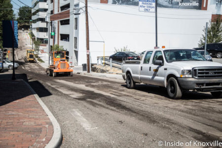 Paving and Road Construction, Knoxville, October 2016