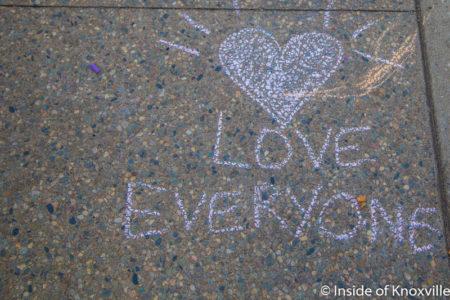Chalk Event After Election, Market Square, Knoxville, November 2016