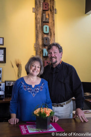 Co-Owners Lyn and Danny Jones, The Bloomers Company, 603 Main Street, Suite 102, Knoxville, November 2016