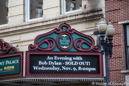Marquee of the Tennessee Theatre, Knoxville, November 2016