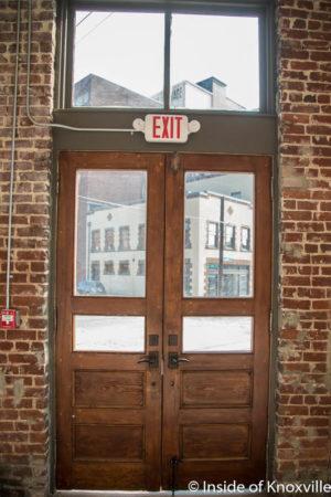 Original Doors, 1894 Saloon Building, Corner Depot and Central, Knoxville, November 2016