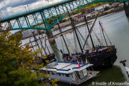 Pinta on the Tennessee River, Knoxville, October 2016
