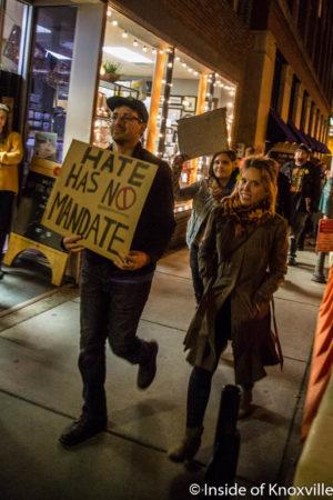 Post-Election Protest, Krutch Park, Knoxville, November 2016