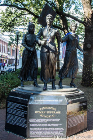 Tennessee Woman Suffrage Memorial, Knoxville, November 2016