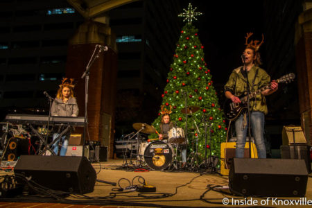 The Pinklets, WDVX Ho Ho Hoedown, Market Square, Knoxville, November 2016