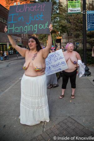 Topless Protest, Krutch Park, Knoxville, November 2016