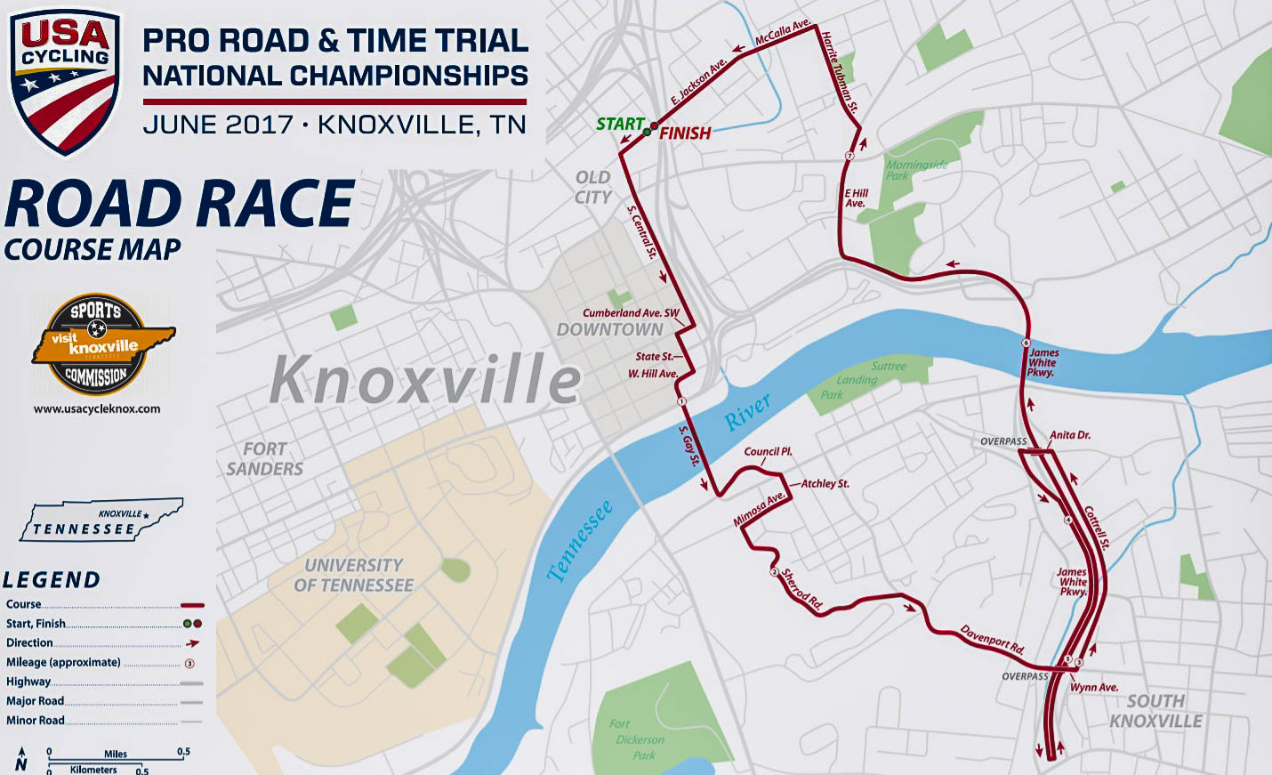 USA Cycling National Championships Coming to Knoxville Inside of