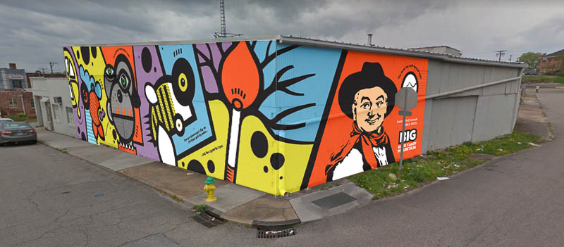 New Mural Going Up Near Central and Broadway (Plus the latest photos from Elkmont Exchange)