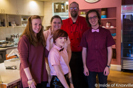 The team at Coolato Gelato, 524 South Gay Street, Knoxville, February 2018