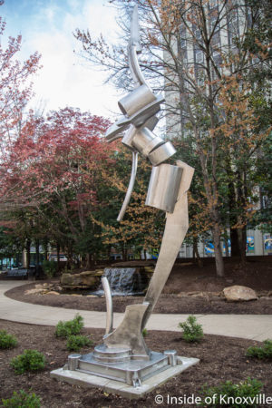 Andrew Light, Delphinian, 16' Tall, Krutch Park, Knoxville, March 2018