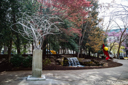 Bret Price, Tempest, Concrete and Steel, 13.5' Tall, Krutch Park, Knoxville, March 2018