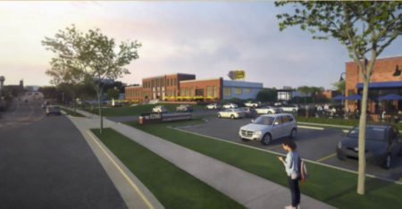 Rendering of the Proposed Kerns Restaurant and Entertainment District