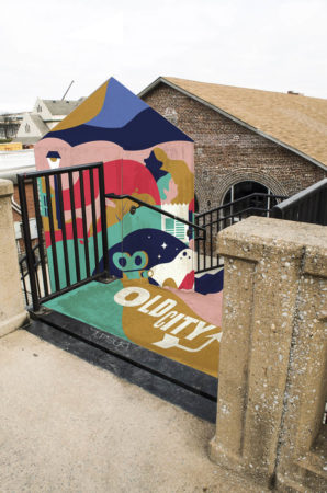 Rendering of Proposed Stairwell Mural, West Jackson Avenue at the Gay Street Viaduct, Knoxville, March 2018