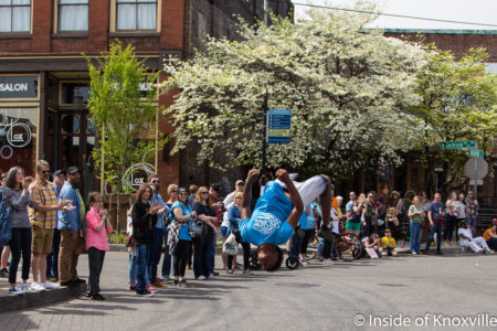 Beale Street Flippers, Sidewalk Sideshow, Old City, Knoxville, April 2018