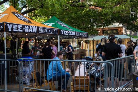 Beer Garden, Dogwood Arts Festival, Market Square, Knoxville, April 2018