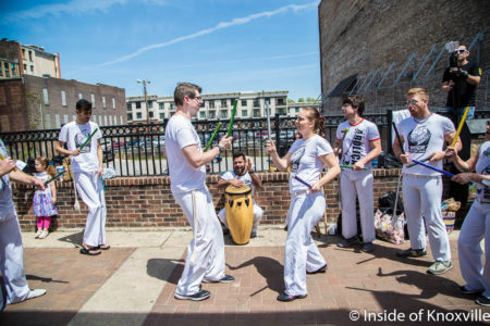Capoeira, Sidewalk Sideshow, Gay Street, Knoxville, April 2018