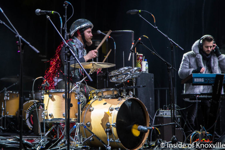 DK the Drummer, Cripple Creek Stage, Rhythm n Blooms, Knoxville, April 2018