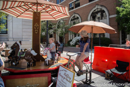 Dan and Cindy's Mid-Day Merry-Go-Round, Dogwood Arts Festival, Market Square, Knoxville, April 2018