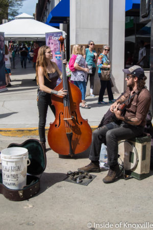 Outlaw Ritual Busking at the Rossini Festival, Knoxville, April 2018