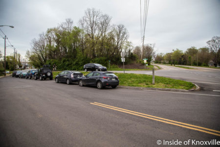 Intersection to be Replaced with Roundabout, Sevier Avenue, Knoxville, April 2018